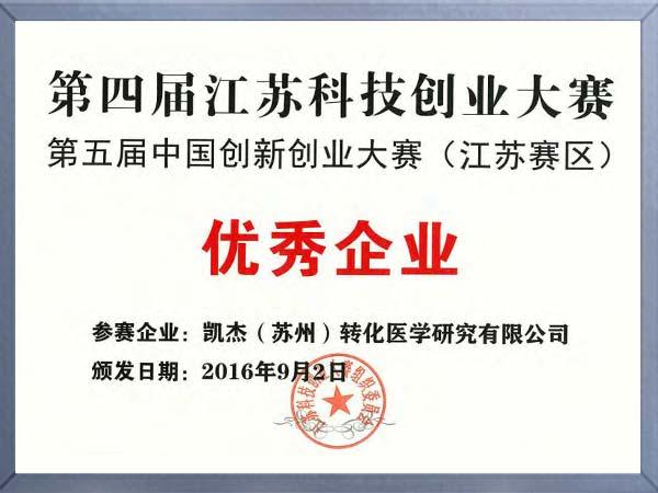 江苏科技创业大赛优秀企业